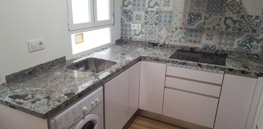 Trabajos cocinas - Cocinas con encimera de granito ...