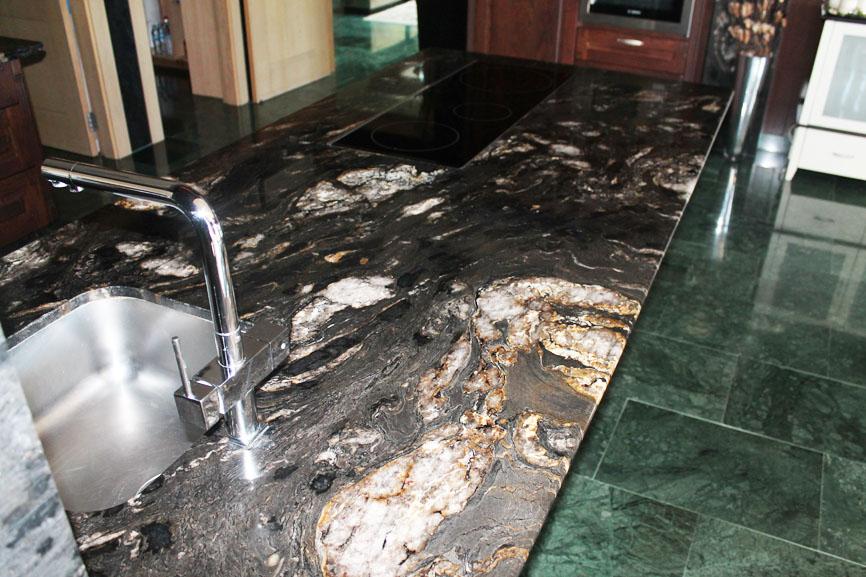 Encimeras de granito precio por metro stunning encimera cocina granito river white with - Granito nacional precio ...